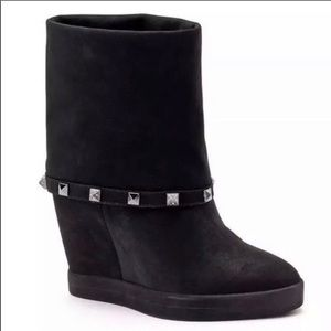 J-LO Jennifer Lopez Studded Rheena Wedge Boots